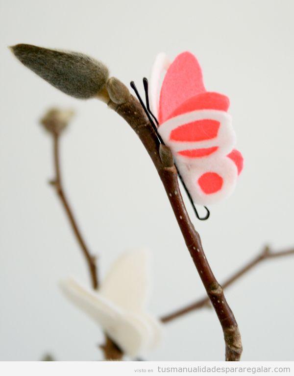 Tutorial mariposa fieltro y clip de pelo paso a paso