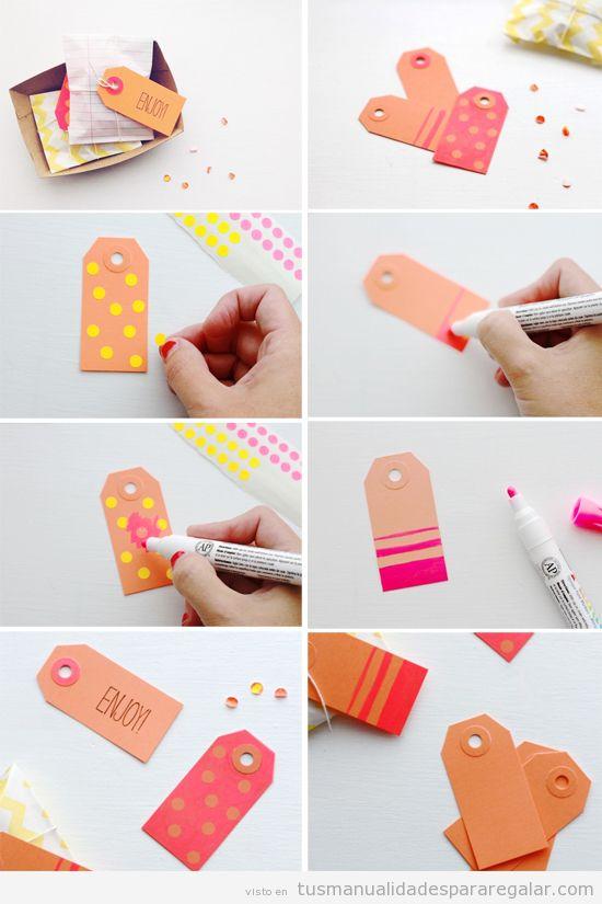 Manualidades fáciles, etiquetas DIY para regalos