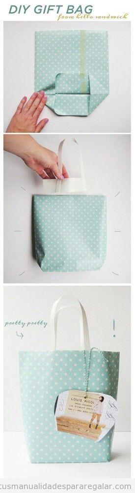 Regalos hechos a mano, una bolsa de regalo paso a paso