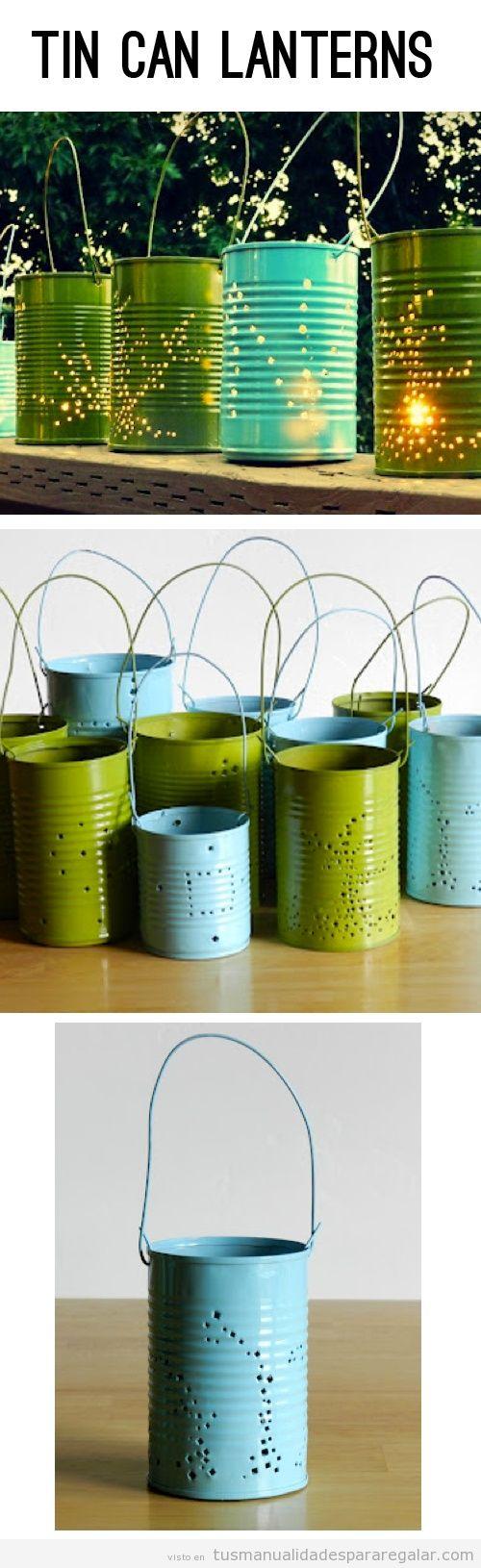 Manualidades para regalar, lámparas DIY hechas con latas