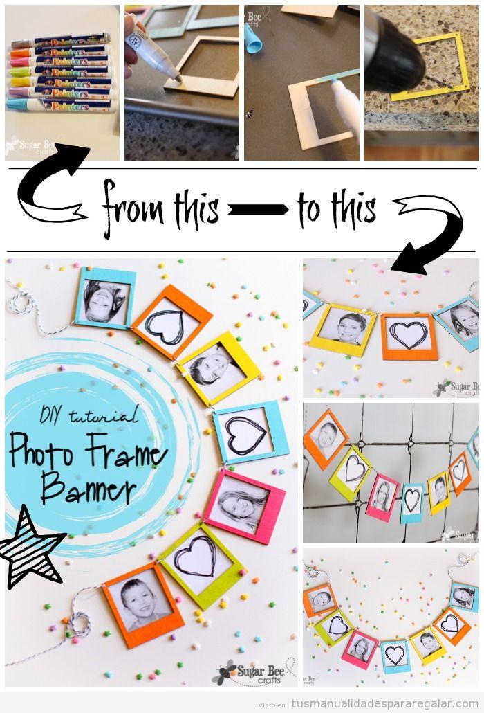 Idea regalo hecho a mano para madres y familiares, marco de fotos DIY