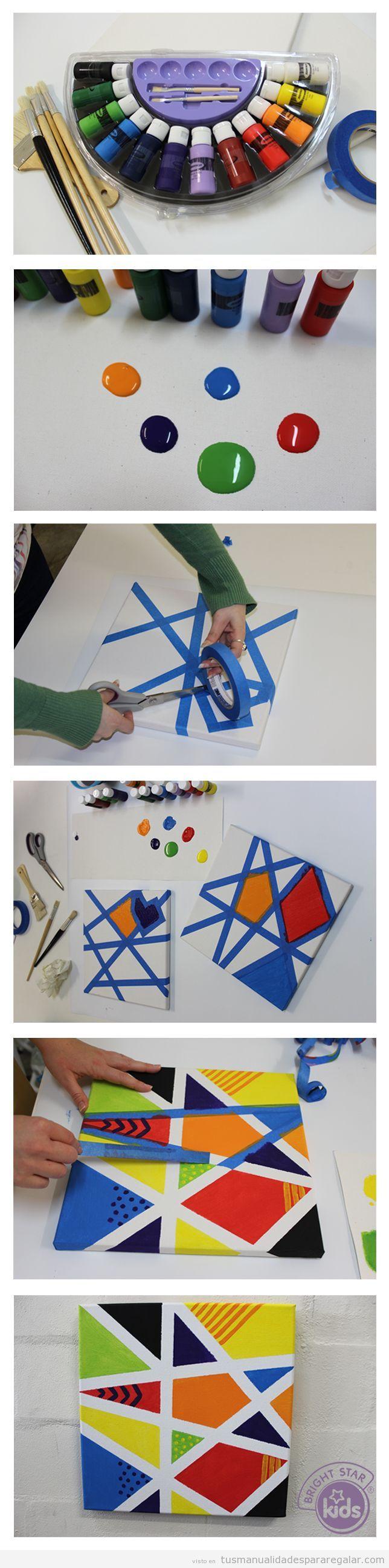 Cuadro original, manualidades hechas por niños para regalar
