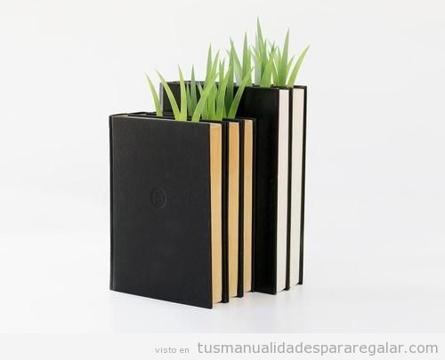 Ideas regalar originales, marcapáginas con forma de hierba