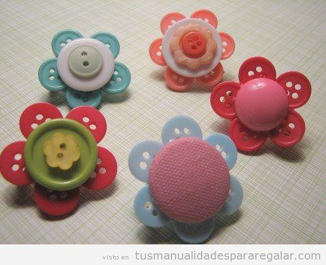 Regalos hechos a mano, broche o clipd e pelo hecho con botones