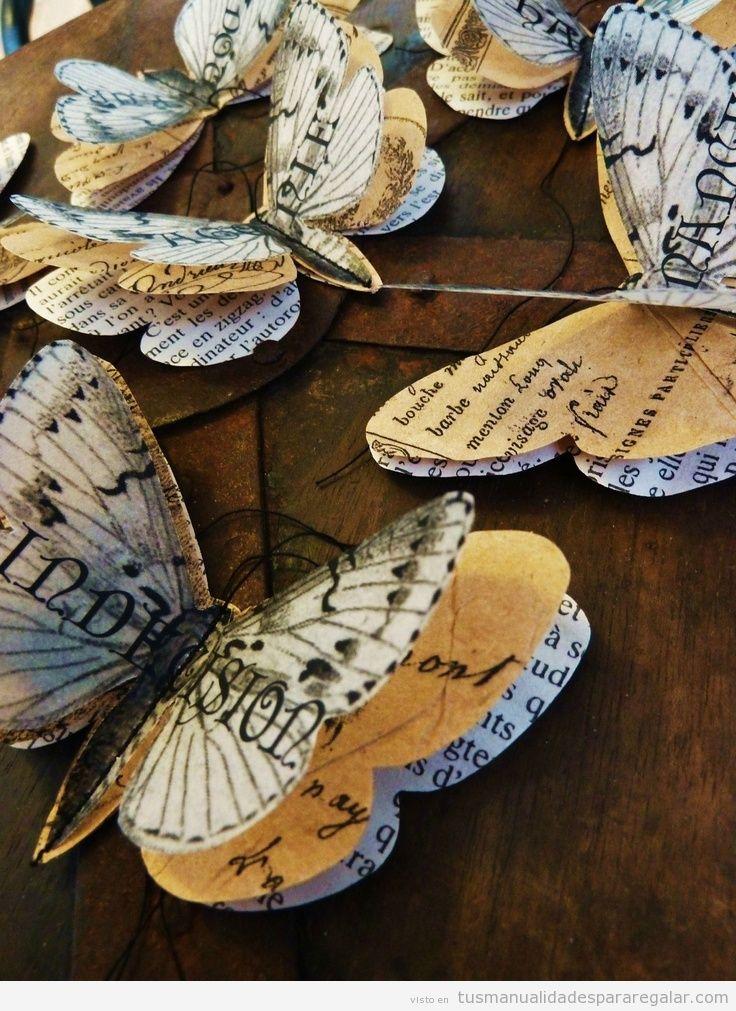 Mariposas manualidades para regalar tutoriales para - Regalos a mano ...