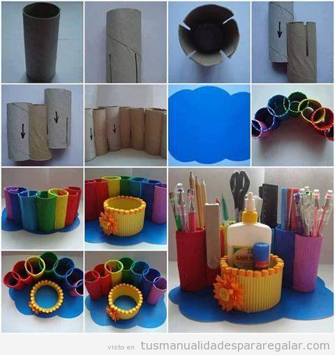 Manualidades hechas con material reciclado para hacer con niños y