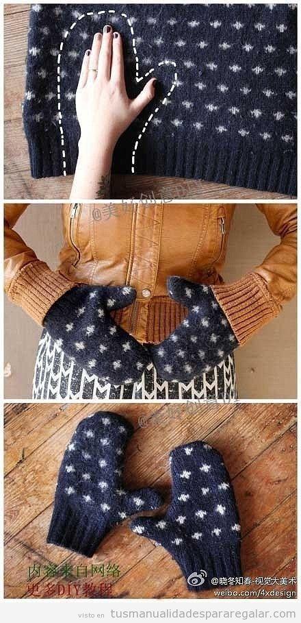 Tutorial convertir jersey antiguo en guantes