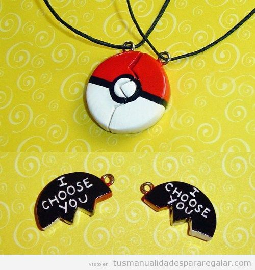 Manualidades para regalar a chicos, collar Pokemon