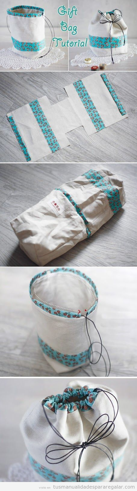 Tutorial bolsa regalo DIY de tela