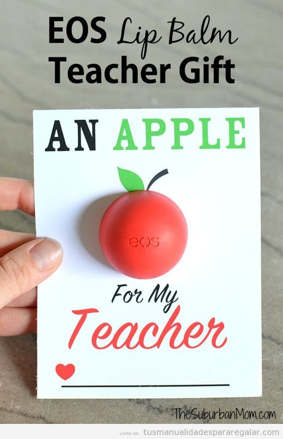 Regalos hechos a mano y detalles para profesores