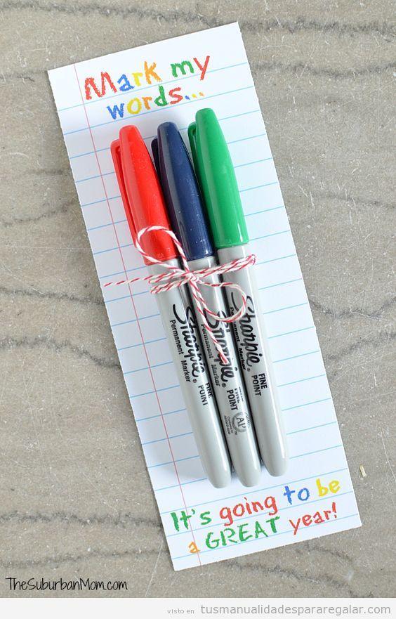 Regalos hechos a mano y detalles para profesores 3