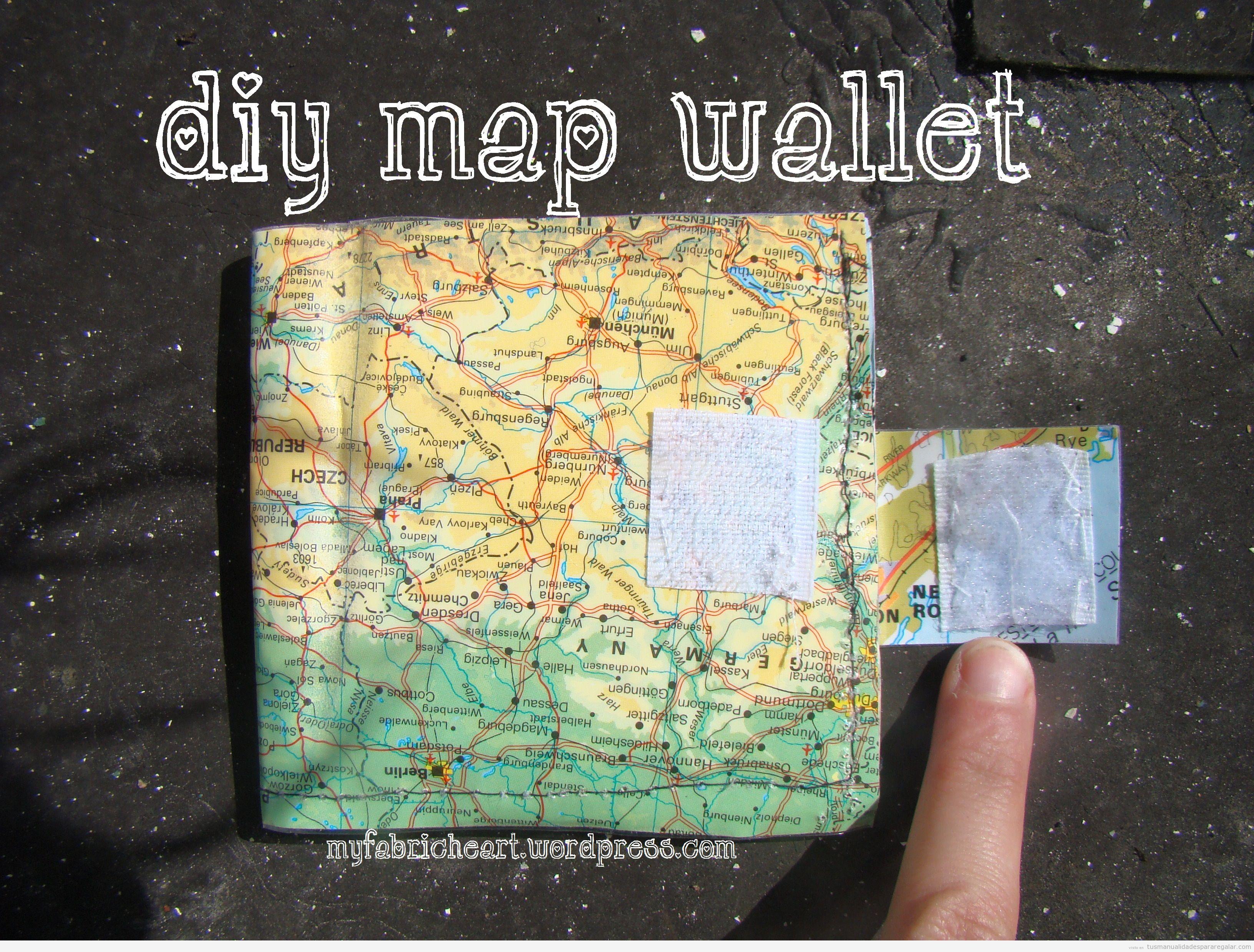 Tutorial cartera mapamundi plástico DIY para regalar, 1