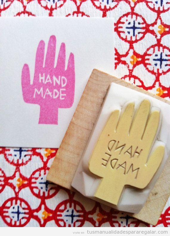 Sello goma hecho a mano