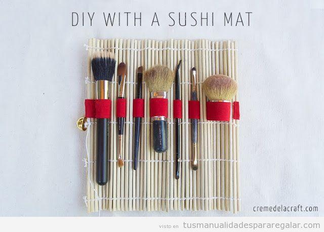 Idea de manualidad para chicas, estuche para pinceles de maquillaje, tutorial paso a paso