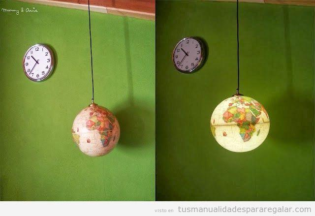 manualidades-regalar-globo-terraqueo-convertido-lampara-diy