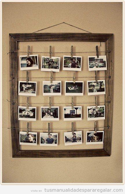 Manualidad San Valentín o Aniversario, cuadro lleno de fotos Polaroid