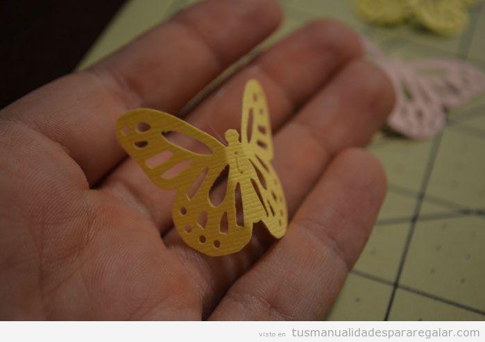 Manualidades regalar chicas y niñas, tutorial móvil de mariposas