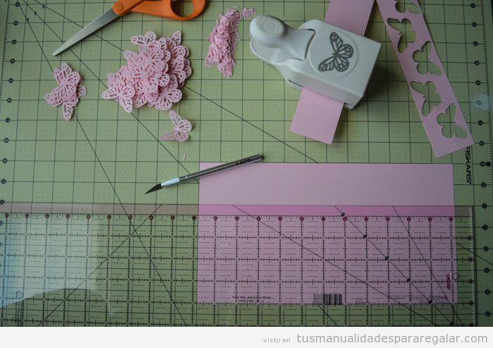 Regalos hechos a mano, móvil con mariposas de papel, Tutorial