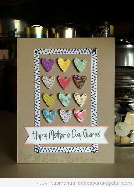 Manualidad fácil y bonita para regalar Día de la madre