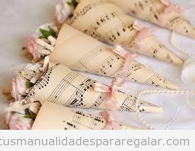 Manualidades regalar invitados en boda 1
