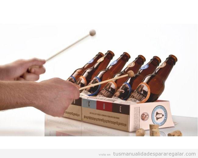 Xilofono DIY botellines cerveza