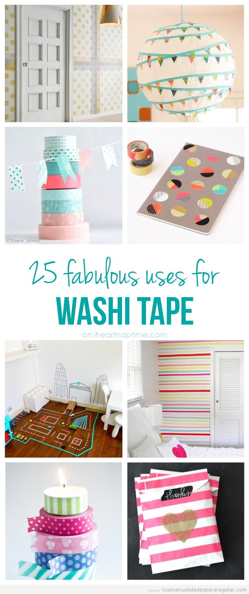 Ideas para decorar con washitape
