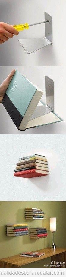 Libro como balda de estantería, tutorial DIY
