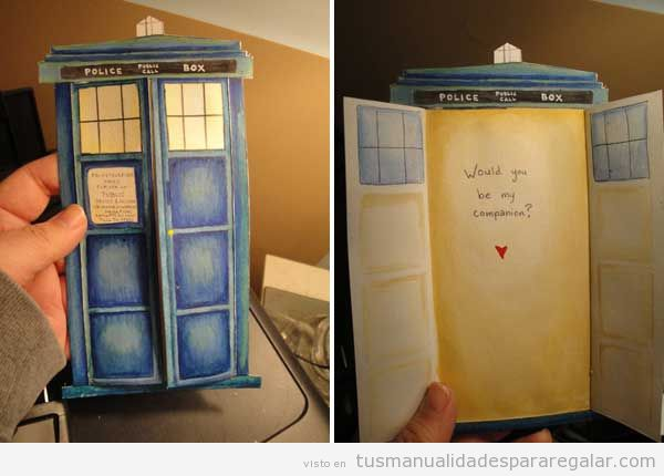 Regalo san Valentín para chicos, Tardis del Dr Who
