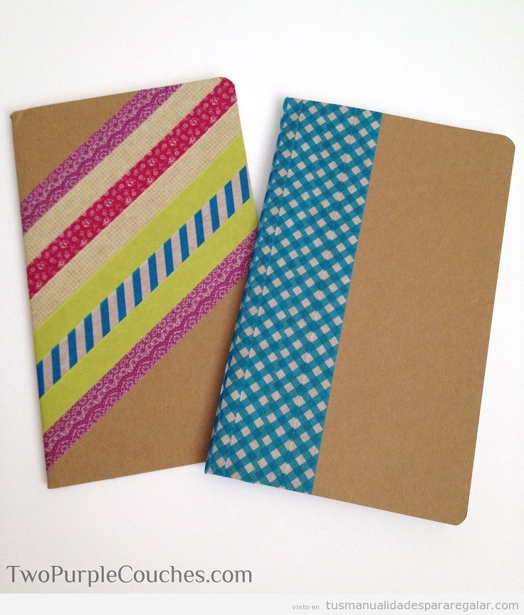 Manualidades para regalar, cuadernos personalizados DIY 3