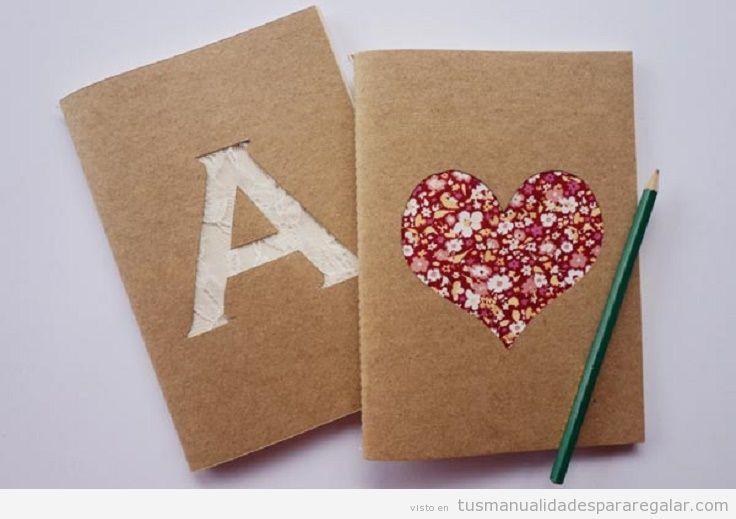 Manualidades para regalar, cuadernos personalizados DIY 4