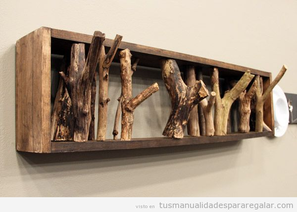 Percheros de pared originales y hechos a mano para regalar 2