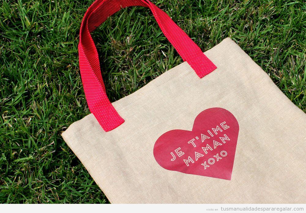 Manualidad para regalar Día de la Madre, bolso fácil