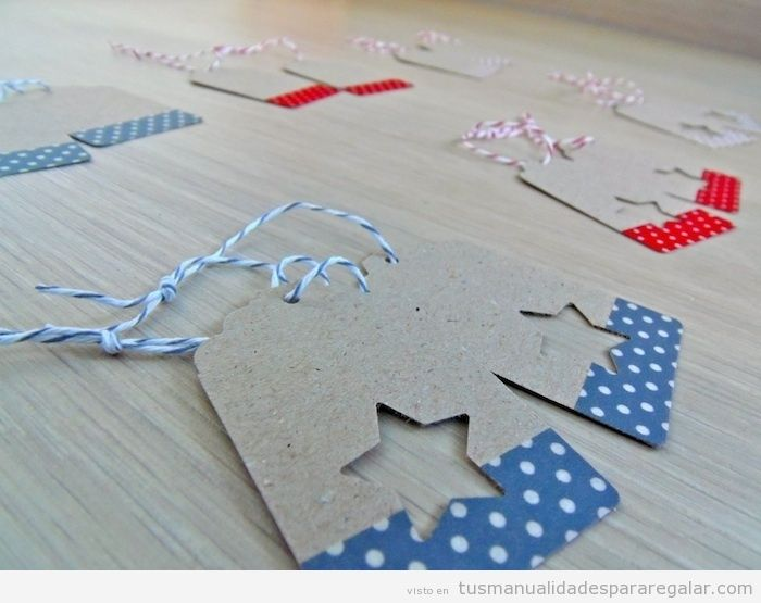Etiquetas de cartón hechas a mano