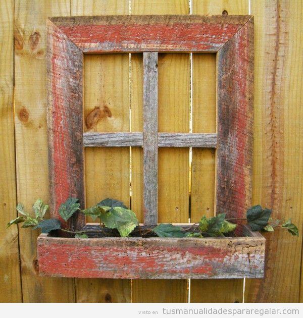 Manualidades madera reciclada con ventanas antiguas 2