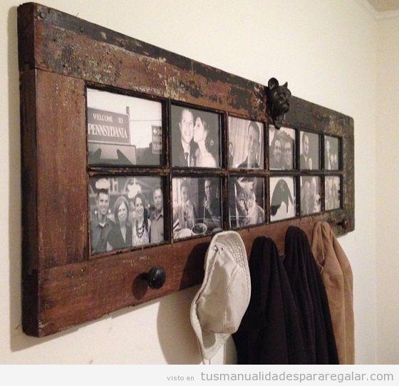 Manualidades madera reciclada con puertas antiguas 4