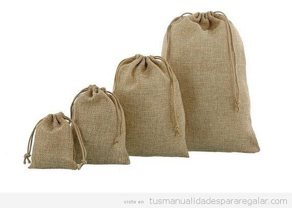Bolsas de yute natural