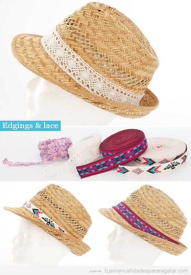 Sombreros DIY con cintas