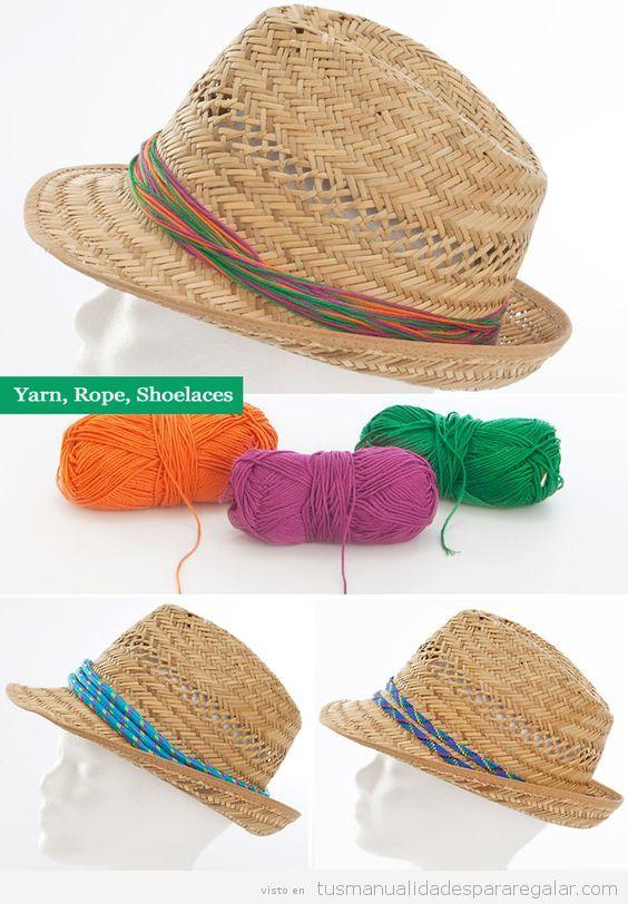Sombreros DIY con cuerdas
