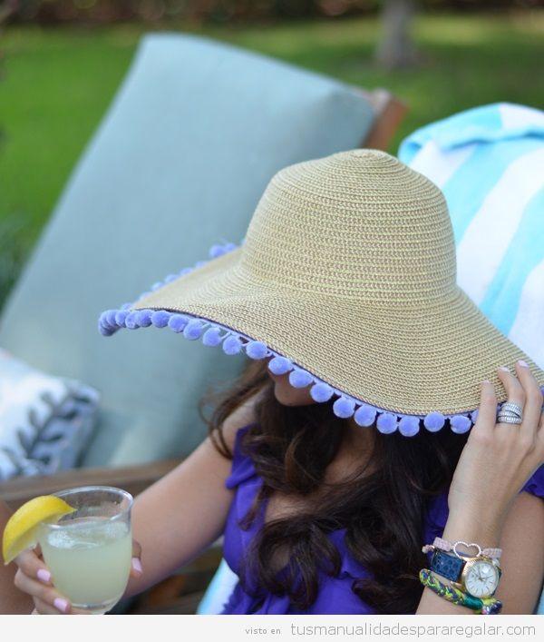 Sombreros DIY pompones 2