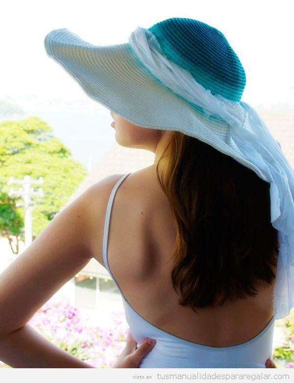 Sombreros DIY teñidos