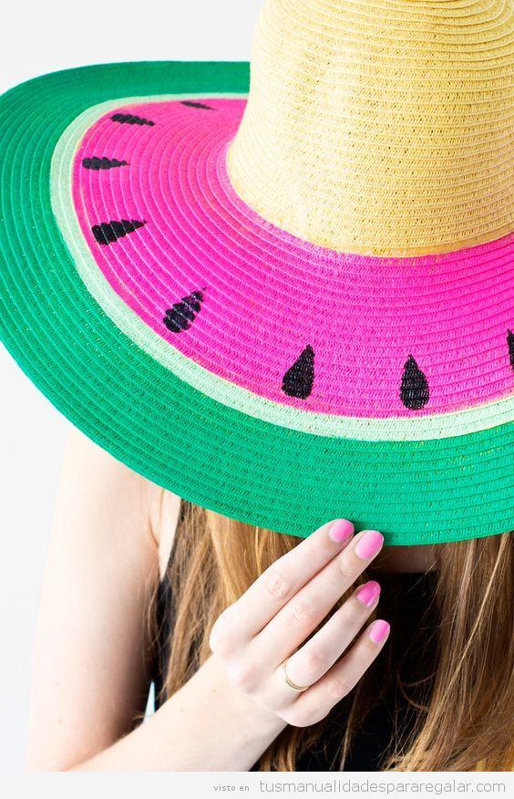 Sombreros DIY teñidos sandía