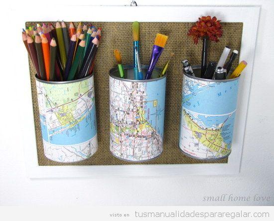 Manualidades regalar vuelta al cole, bote lápices DIY 2