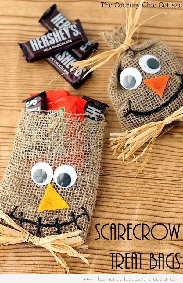 Manualidades regalar Halloween, bolsa de caramelo 2