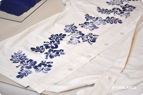 Camisetas estampadas DIY con sellos 3