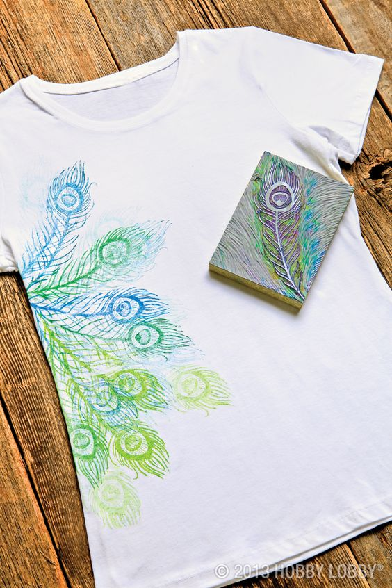 Camisetas estampadas DIY con sellos 6