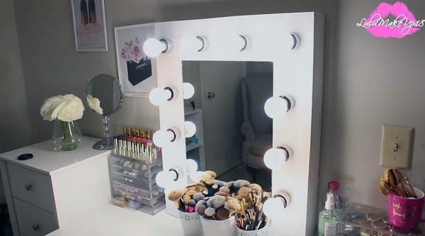 Tutorial espejo con bombillas para maquillaje