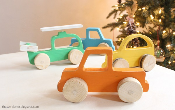 Juguetes DIY niños, coche de madera