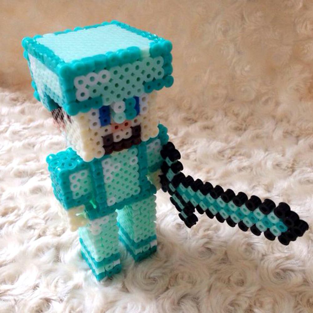 Juguetes DIY niños, muñeco hamma beads