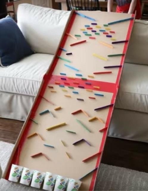 Juguetes DIY niños, pinball