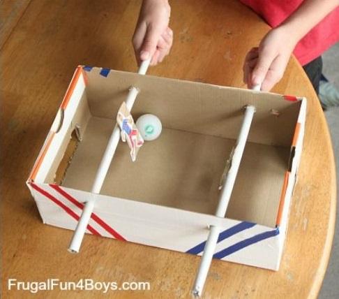 Juguetes DIY niños, futbolín